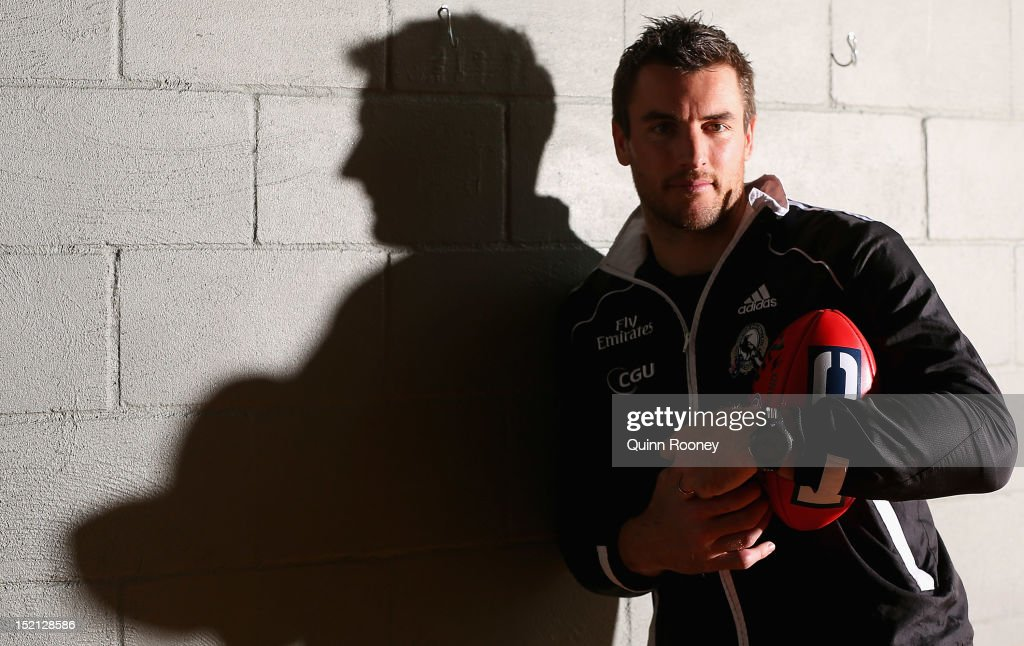 Darren Jolly of the Magpies poses during a Collingwood Magpies AFL media session at the Westpac Centre on September 17, 2012 in Melbourne, Australia.