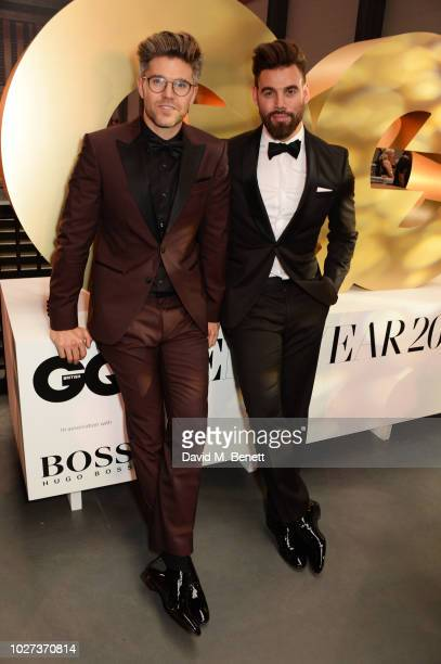 Darren Kennedy and Timothy James attend the GQ Men of the Year Awards 2018 in association with HUGO BOSS at Tate Modern on September 5 2018 in London...
