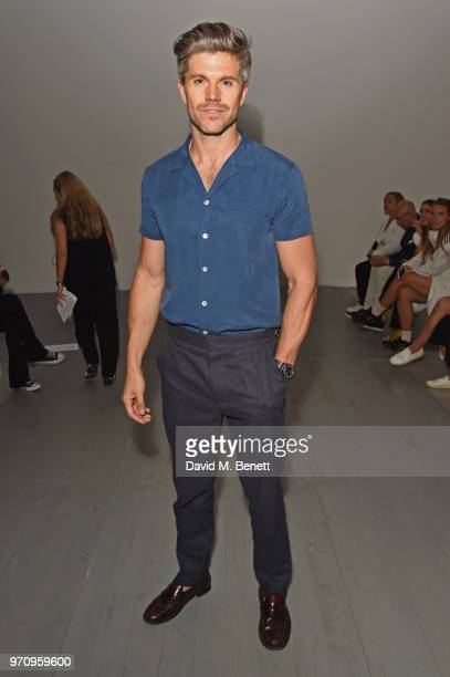 Darren Kennedy attends the Alex Mullins show during London Fashion Week Men's June 2018 at the BFC Show Space on June 10 2018 in London England