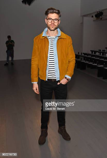 Darren Kennedy attends the Christopher Raeburn show during London Fashion Week Men's January 2018 at BFC Show Space on January 7 2018 in London...