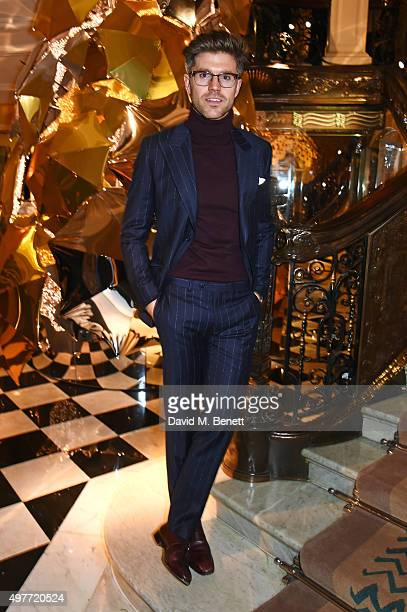 Darren Kennedy attends the Claridge's Christmas Tree Party 2015 designed by Christopher Bailey for Burberry at Claridge's Hotel on November 18 2015...