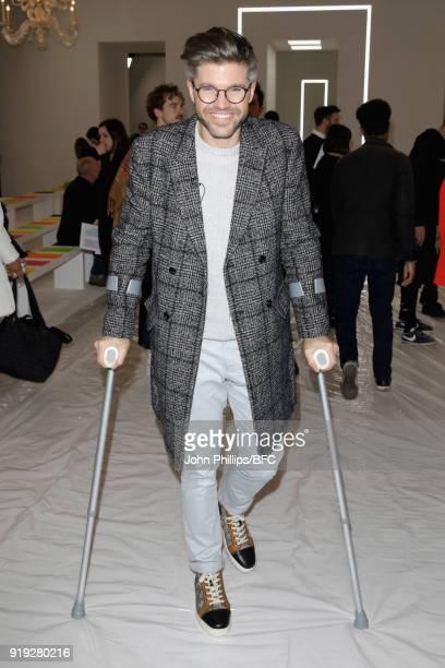 Darren Kennedy attends the Jasper Conran show during London Fashion Week February 2018 at Claridges Hotel on February 17 2018 in London England