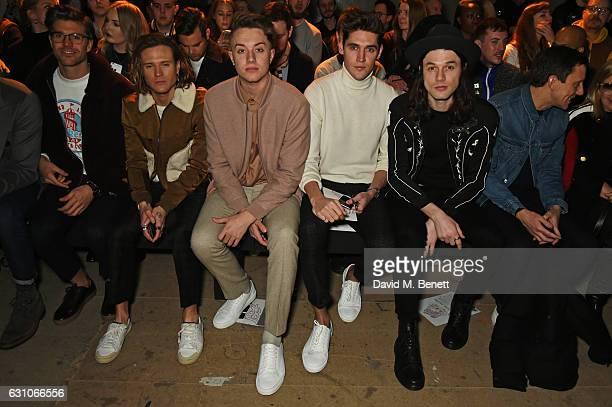 Darren Kennedy Dougie Poynter Roman Kemp Isaac Carew and James Bay attend the TOPMAN DESIGN show during London Fashion Week Men's January 2017...