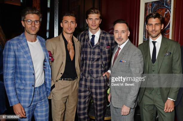 Darren Kennedy Harvey NewtonHaydon Toby HuntingtonWhiteley David Furnish and Johannes Huebl attend the GQ Dinner cohosted by Dylan Jones and Loyle...