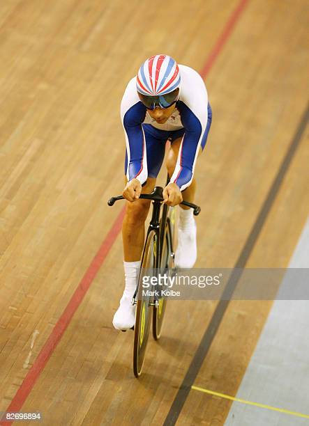 Darren Kenny of Great Britain competes in the men's individual pursuit during the Track Cycling event during the 2008 Beijing Paralympics at Laoshan...
