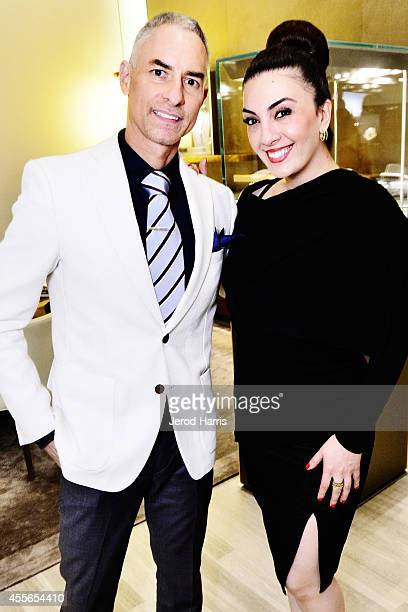 Darren Klesh and Mercedes Moussadinejad attend David Yurman with RIVIERA host an instore event to celebrate the 'Enduring Style' fall campaign on...