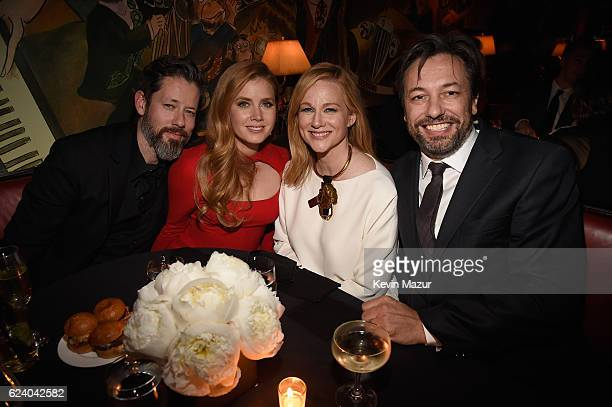 Darren Le Gallo Amy Adams and Laura Linney attend the New York Premiere of Tom Ford's 'Nocturnal Animals' at The Paris Theatre on November 17 2016 in...
