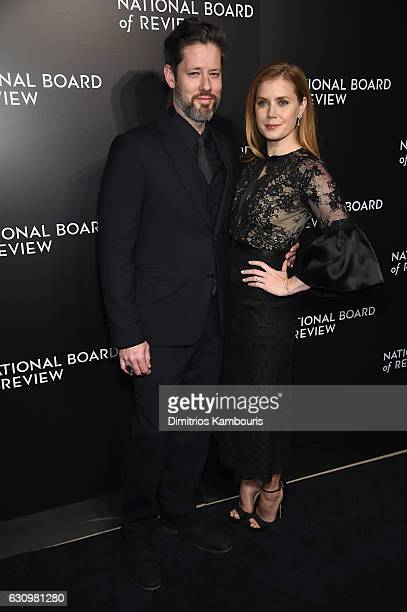 Darren Le Gallo and actress Amy Adams attend the 2016 National Board of Review Gala at Cipriani 42nd Street on January 4 2017 in New York City