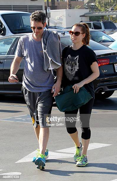 Darren Le Gallo and Amy Adams are seen on January 29 2014 in Los Angeles California