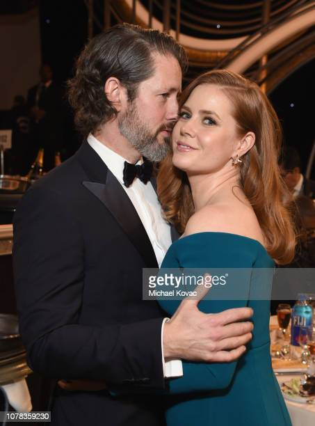 Darren Le Gallo and Amy Adams attend Moet Chandon at The 76th Annual Golden Globe Awards at The Beverly Hilton Hotel on January 6 2019 in Beverly...