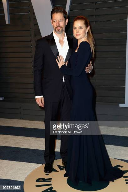 Darren Le Gallo and Amy Adams attend the 2018 Vanity Fair Oscar Party hosted by Radhika Jones at Wallis Annenberg Center for the Performing Arts on...