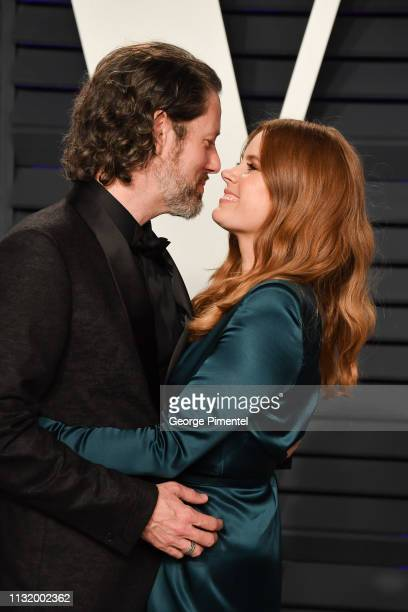 Darren Le Gallo and Amy Adams attend the 2019 Vanity Fair Oscar Party hosted by Radhika Jones at Wallis Annenberg Center for the Performing Arts on...