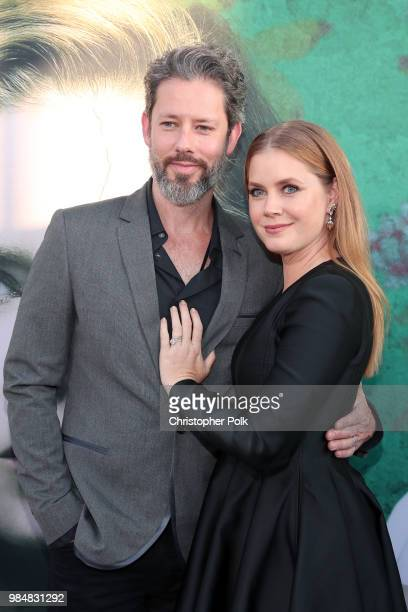 Darren Le Gallo and Amy Adams attend the premiere of HBO's 'Sharp Objects' at The Cinerama Dome on June 26 2018 in Los Angeles California