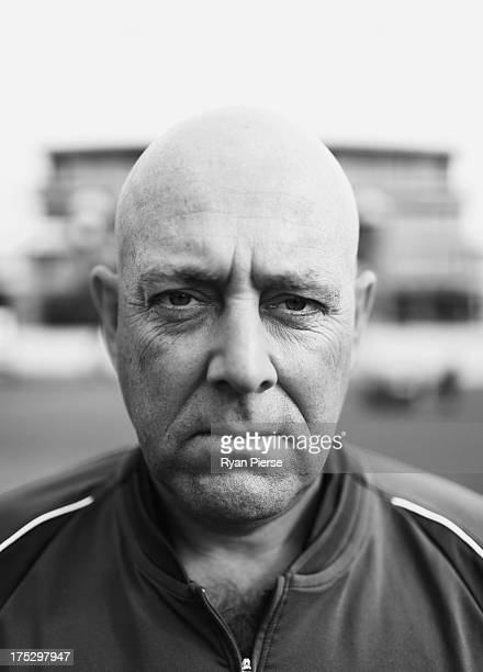 Darren Lehmann coach of Australia poses at Old Trafford on July 30 2013 in Manchester England