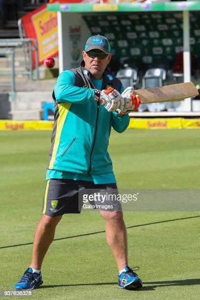 Darren Lehmann of Australia during day 4 of the 3rd Sunfoil Test match between South Africa and Australia at PPC Newlands on March 25 2018 in Cape...
