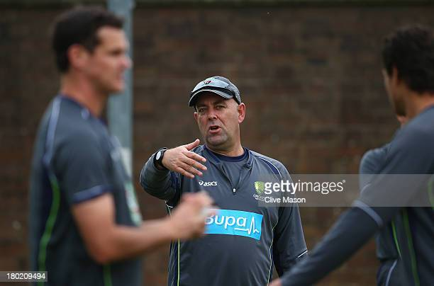 Darren Lehmann of Australia in action during a net session ahead of the third NatWest One Day International Series match between England and...