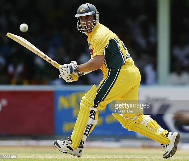 Darren Lehmann of Australia in action during the 1st One Day International between the West Indies and Australia played at Sabina Park on May 17,...