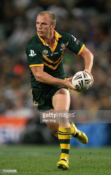 Darren Lockyer, Captain of the Kangaroos during the Tri-Nations Series match between the Australian Kangaroos and the Great Britain Lions at Aussie...