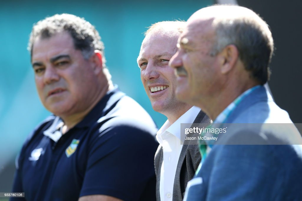Darren Lockyer looks on during the Rugby League Hall of Fame and Immortals Announcement at Sydney Cricket Ground on March 19, 2018 in Sydney, Australia.