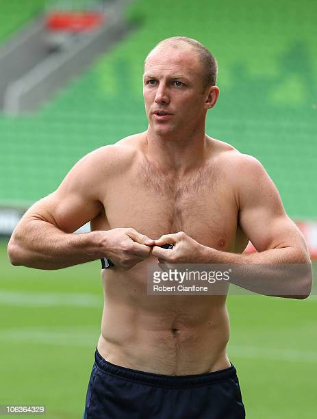 Darren Lockyer of the Kangaroos prepares for an Australian Kangaroos Four Nations training session at AAMI Park on October 30 2010 in Melbourne...