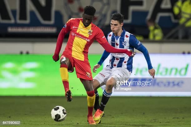 Darren Maatsen of Go Ahead Eagles Stefano Marzo of sc Heerenveenduring the Dutch Eredivisie match between sc Heerenveen and Go Ahead Eagles at Abe...
