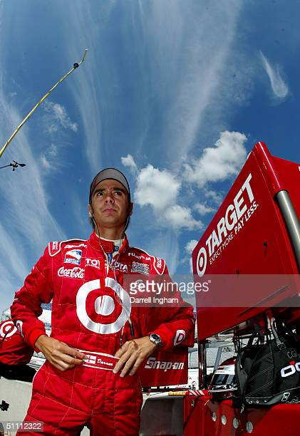 Darren Manning driver of the Target Chip Ganassi Racing Toyota GForce during practice for the Indy Racing League IndyCar Series Menards AJFoyt Indy...