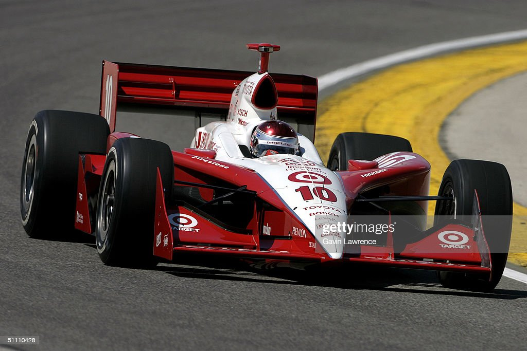Darren Manning driving the #10 Target Chip Ganassi Racing Toyota GForce during practice for the Indy Racing League IndyCar Series Menards A.J. Foyt Indy 225 on July 23, 2004 at the Milwaukee Mile in Milwaukee, Wisconsin.