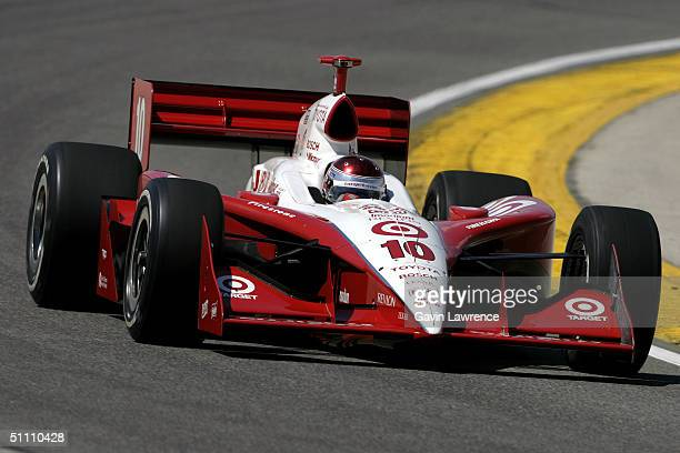 Darren Manning driving the Target Chip Ganassi Racing Toyota GForce during practice for the Indy Racing League IndyCar Series Menards AJ Foyt Indy...