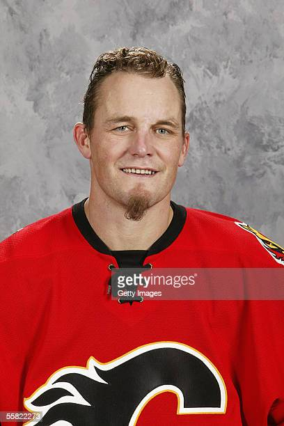 Darren McCarty of the Calgary Flames poses for a portrait at Don Hartman Arena on September 122005 in Calgary Canada