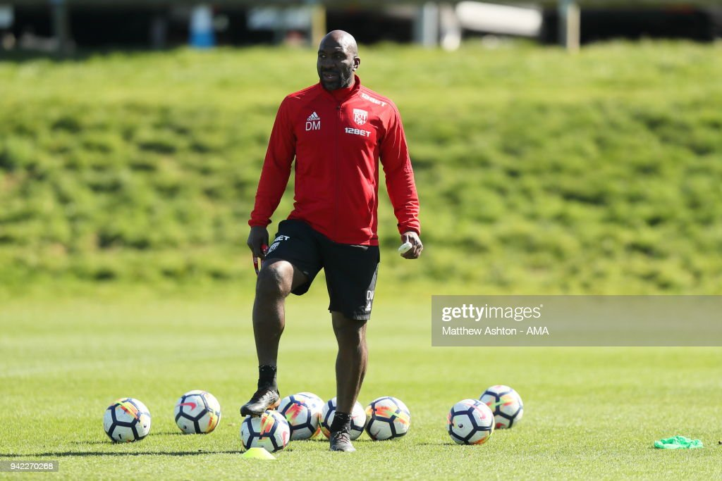 Darren Moore - First Team Coach of West Bromwich Albion during a West Bromwich Albion training session on April 5, 2018 in West Bromwich, England.