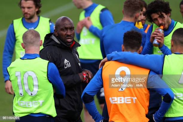 Darren Moore First Team Coach of West Bromwich Albion during a West Bromwich Albion Training Session on April 26 2018 in West Bromwich England