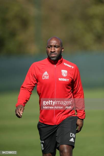 Darren Moore First Team Coach takes the training session during a West Bromwich Albion training session on April 5 2018 in West Bromwich England