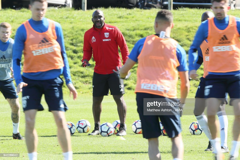 Darren Moore Takes West Bromwich Albion Training session : News Photo