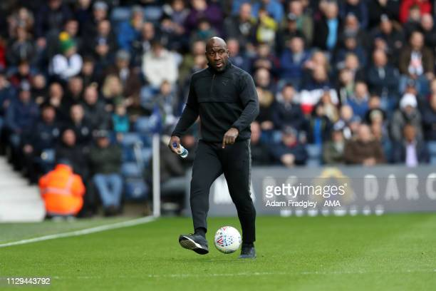 Darren Moore head coach / manager of West Bromwich Albion during the Sky Bet Championship match between West Bromwich Albion and Ipswich Town at The...