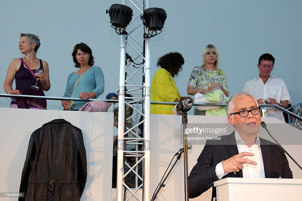 Darren Pih, Tate Liverpool, speaks during the opening of the ' Glam, the Performance of Style' Exhibition at Schirn Kunsthalle on June 13, 2013 in Frankfurt am Main, Germany.