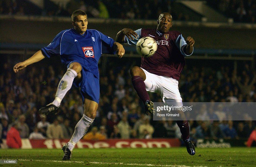 Darren Purse of Birmingham City and Dion Dublin of Aston Villa : News Photo