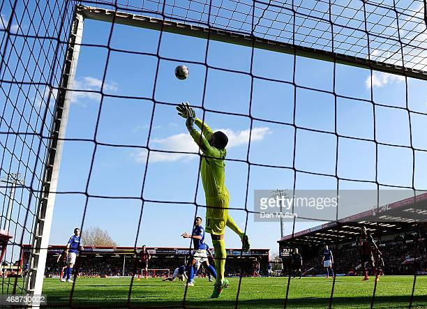 Darren Randolph of Birmingham City fails to stop the shot from Charlie Daniels of AFC Bournemouth during the Sky Bet Championship match between AFC...