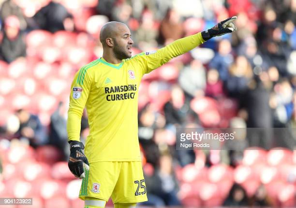 Darren Randolph of Middlesbrough during The Emirates FA Cup Third Round match between Middlesbrough and Sunderland at the Riverside Stadium on...