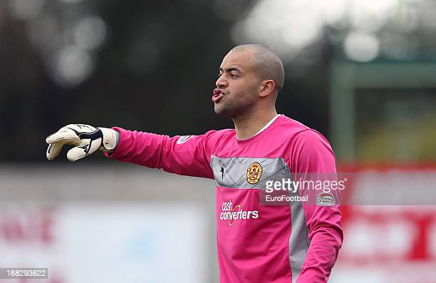 Darren Randolph of Motherwell FC in action during the Clydesdale Bank Scottish Premier League match between Inverness Caledonian Thistle FC and...