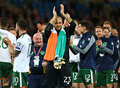 darren randolph republic ireland celebrates during