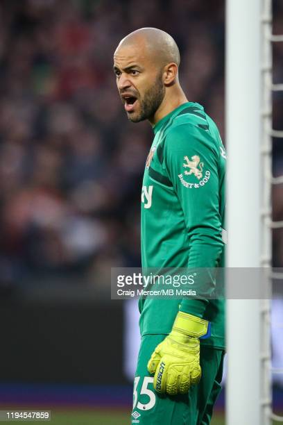 Darren Randolph of West Ham United during the Premier League match between West Ham United and Everton FC at London Stadium on January 18 2020 in...