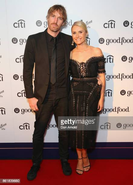 Darren Robertson and Magdalena Roze arrive ahead of the Good Food Guide Awards on October 16 2017 in Sydney Australia