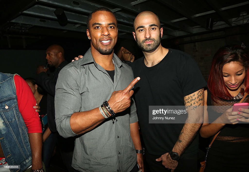 Darren Sharper and Nima Yamini attend the Greenhouse New York Super Sunday NOLA After Party at Jackson Brewery Bistro Bar on February 3, 2013 in New Orleans, Louisiana.