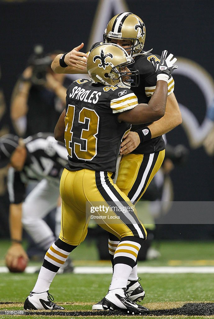 outlet store 842c1 f0869 Darren Sproles of the New Orleans Saints celebrates after ...