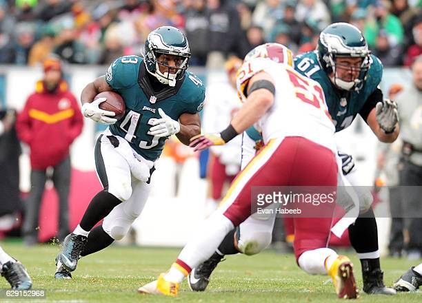 Darren Sproles of the Philadelphia Eagles runs with the ball in the second quarter against the Washington Redskins at Lincoln Financial Field on...