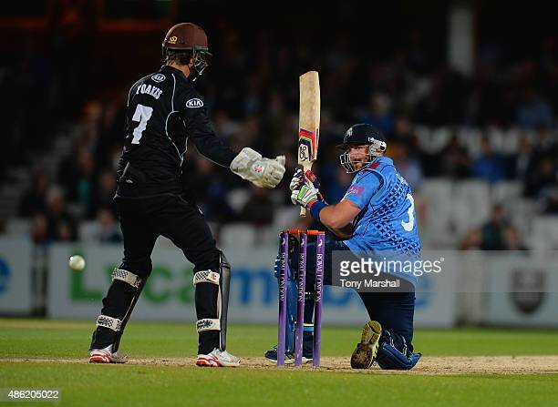Darren Srevens of Kent bats during the Royal London OneDay Cup Quarter Final match between Surrey and Kent at The Kia Oval on August 27 2015 in...