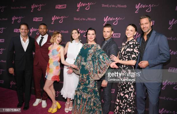 Darren Star Charles Michael Davis Molly Bernard Miriam Shor Debi Mazur Nico Tortorella Sutton Foster and Peter Hermann attend Younger Season 6 New...