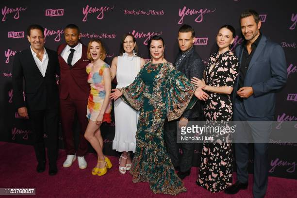 Darren Star Charles Michael Davis Molly Bernard Miriam Shor Debi Mazar Nico Tortorella Sutton Foster and Peter Hermann attend the screening of...