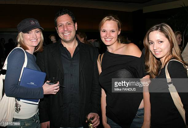 Darren Star Spring Storytellers Series in Beverly Hills United States on April 28 2005 Holly Robison Darren Star Sarah Edwards and Janielle Penner at...