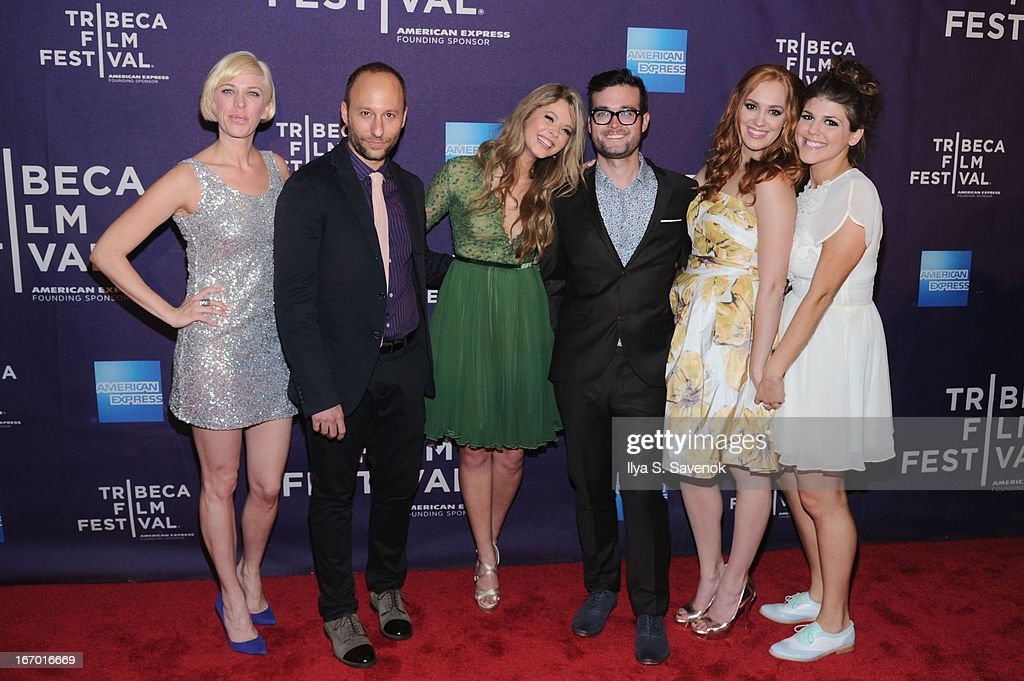 Darren Stein, Sasha Pieterse, George Northy, Andrea Bown and Molly Tarlov attend the 'G.B.F.' world premiere during the 2013 Tribeca Film Festival on April 19, 2013 in New York City.